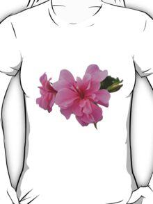 Pink flower transparent background T-Shirt