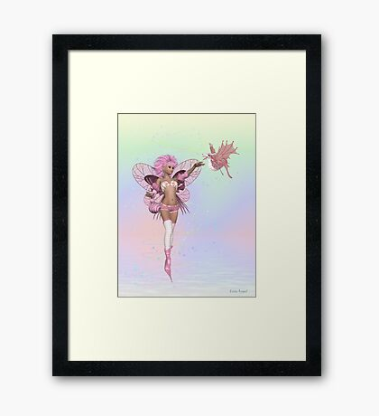 The fae and the Dragon Framed Print