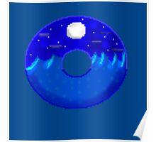 Midnight ocean doughnut  Poster