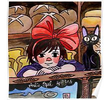 Cute Bakery Witch Kiki  Poster