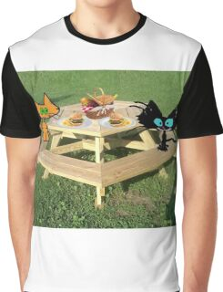 Cats Ready For A PicNic Graphic T-Shirt