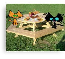 Cats Ready For A PicNic Canvas Print