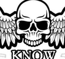 Angel of Death Know No Retreat Sticker