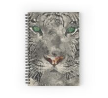 White Tiger Watercolor Spiral Notebook