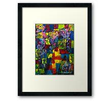 Blocks - Running Man Framed Print