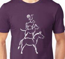 Bremen Town Musicians (White Ink) Unisex T-Shirt