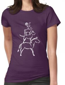 Bremen Town Musicians (White Ink) Womens Fitted T-Shirt