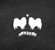 American Eskimo Dogs in Love by Jenn Inashvili