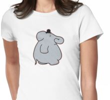 Elephant on the move Womens Fitted T-Shirt