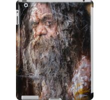 Aboriginal fullblood portrait on paperbark iPad Case/Skin