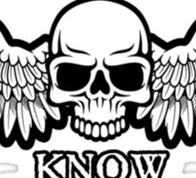 Angel of Death Know No Fear Sticker