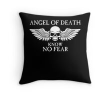Angel of Death Know No Fear Throw Pillow