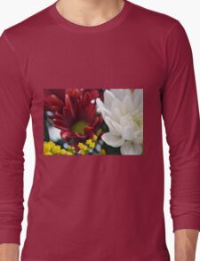 Watercolor style natural background with beautiful colorful flower petals. Long Sleeve T-Shirt