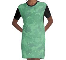 Blended With Nature Graphic T-Shirt Dress