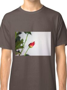 Watercolor style natural background with beautiful colorful flower petals and leaves. Classic T-Shirt