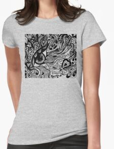 Miniature Tangle 14  Black - I've Got My Eye On You  Womens Fitted T-Shirt
