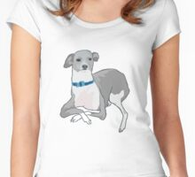 Judgemental Whippet Women's Fitted Scoop T-Shirt