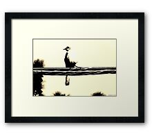 Sparrow on the look out Framed Print