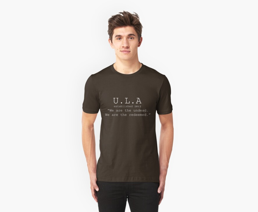 ULA tee-shirt dark colours by ULARoarton