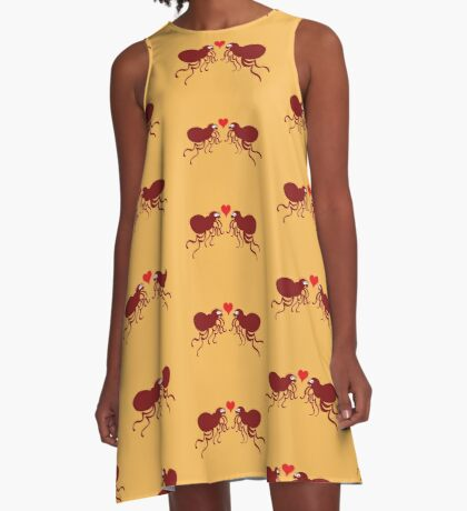 Ugly fleas madly falling in love A-Line Dress