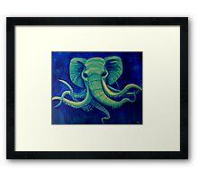 Octophant - Artwork by Minxi Framed Print