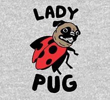 lady pug Women's Fitted V-Neck T-Shirt