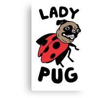 lady pug Canvas Print
