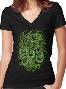 The Call of Cthulhu Women's Fitted V-Neck T-Shirt