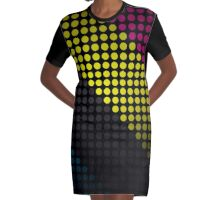 The Circle Stripes  Graphic T-Shirt Dress