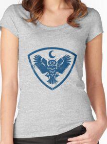 owl bird Women's Fitted Scoop T-Shirt