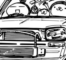 Crazy Car Art 0002 Sticker