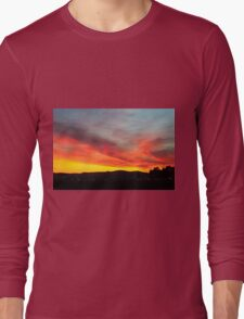 fiery sunset of Yellow orange and red  Long Sleeve T-Shirt