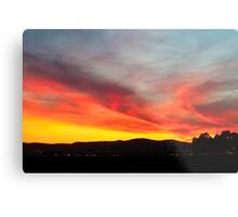 fiery sunset of Yellow orange and red  Metal Print