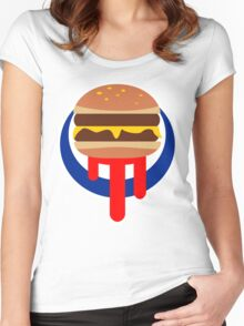 Burger Was Made For Me And You Women's Fitted Scoop T-Shirt