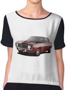 1969 Chevrolet Camaro - Red Women's Chiffon Top