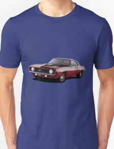 1969 Chevrolet Camaro - Red Unisex T-Shirt