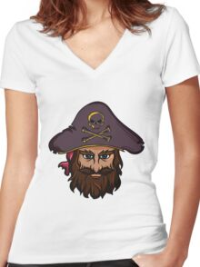 T-shirt Pirate Women's Fitted V-Neck T-Shirt