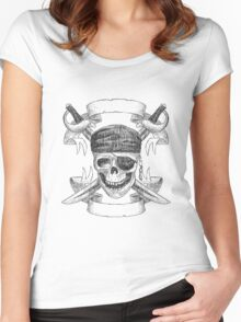 Pirate Women's Fitted Scoop T-Shirt