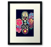 Skulls and Flowers Framed Print