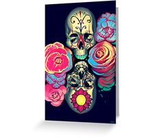 Skulls and Flowers Greeting Card