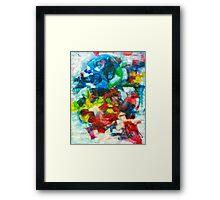Blocks - Colours Framed Print