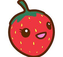 Kawaii Strawberry by sweetkawaii