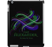 Clan Alexander - Prefer your gift on Black/White tell us at info@tangledtartan.com  iPad Case/Skin