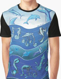 Ocean's Symphony Graphic T-Shirt