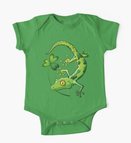 Saint Patrick's Day Gecko One Piece - Short Sleeve