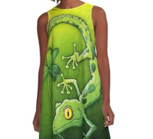 Saint Patrick's Day Gecko A-Line Dress