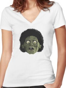 The funk of forty thousand years Women's Fitted V-Neck T-Shirt