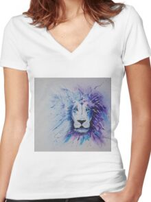 Lionstein by Lufty Women's Fitted V-Neck T-Shirt
