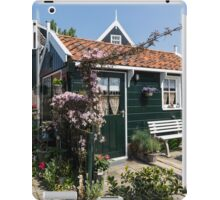 Dutch Country Charm - a Beautiful Little Cottage with Flowers iPad Case/Skin