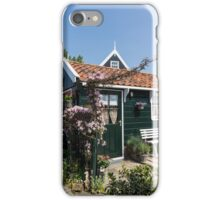 Dutch Country Charm - a Beautiful Little Cottage with Flowers iPhone Case/Skin